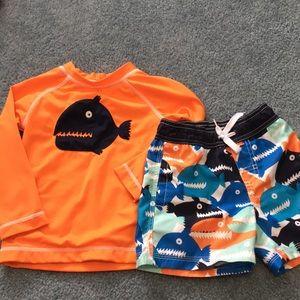 Like NEW Gymboree Toddler Boy Swimsuit  Bundle 2T